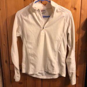Alpine design cream fleece half zip size s